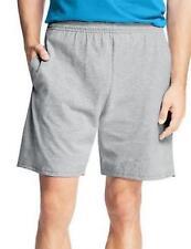 Hanes Men's Jersey Cotton Shorts with Elastic Waist & Pockets Light Steel XL