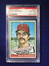 1976 Topps Traded Mike Anderson #527T PSA 8 St Louis Cardinals