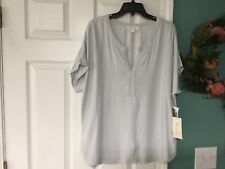 Women's Two By Vince Camuto Blue Blouse Top Size Large (CON7)