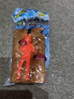Hand Throw Parachute Game - New And Sealed - Orange