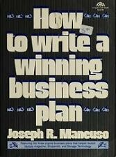 How to write a winning business plan