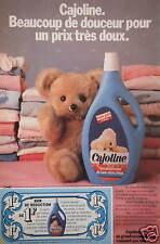 PUBLICITÉ 1981 CAJOLINE UN GRAND ASSOUPLISSEUR - BON DE RÉDUCTION - ADVERTISING
