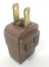 Vintage Eagle 3 Way Power Outlet Adapter Plug Brown Rubber