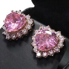 5d74f748c3e34 Pink Sapphire Fine Stud Earrings for sale | eBay