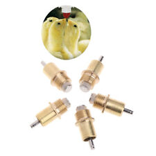 5Pc Poultry Chicken Rabbit Water Drinking Automatic Screw In Type Nipples Feeder