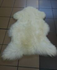 "genuine sheepskin rug cream 40"" plus"
