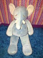 "VGUC-RARE-11"" MIYIM Simply Organic Light Blue Ellie the Elephant Plush Toy"