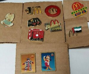 Lot of 10 Vintage McDonalds Collector Pins-International / Employee / Easter +