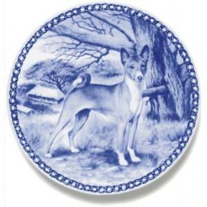 Basenji - Dog Plate made in Denmark from the finest European Porcelain