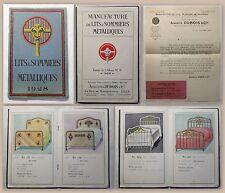 Augustin Dubois & Cie Manufacture Lits &  Sommiers Metalliques Katalog 1928 xz
