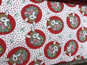 Moda Deer Christmas By Urban Chiks - Peppermint