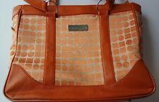 Clark & Mayfield Laptop Business Bag w/Shoulder Straps-Orange Geometric Pattern