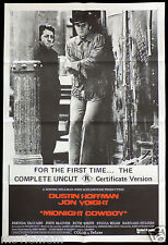 MIDNIGHT COWBOY R Rated One Sheet Original Movie poster Dustin Hoffman