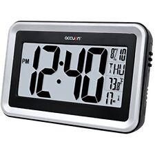 Accuon Large Atomic Radio Controlled Self Setting Digital Wall Clock With Indoor
