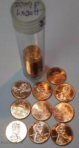 2009 P UNCIRCULATED  LINCOLN  Bicentennial  CENT PENNIES White House  - 10 coins