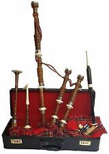 Great Highland Bagpipe Rosewood Half Set/Scottish Bagpipes Shesham Wood Half Set