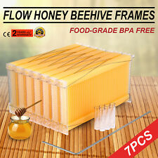 7PCS 2-generation Auto-Flow Honey Hive Bee Beekeeping Hives Frames Harvesting