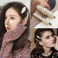 2 Pcs Pearl Hair Clip Hairband Comb Bobby Pin Hot Girl Barrette Hairpin