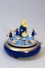 Spieldose Mond + Sternenquartett, 12 cm Spieluhr Erzgebirge NEU