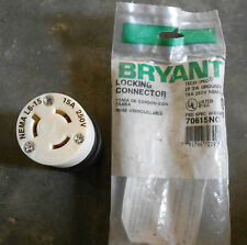 BRYANT 70615NC LOCKING CONNECTOR, 15A 250V, L6-15R, (N-3)