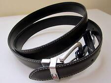 Genuine  tommy hil  men belt reversible Black  Brown Buckle Logo  Size 38 NEW