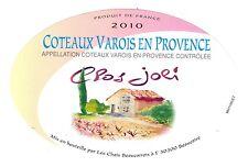 Etiquette de vin - Wine Label - Côteaux varois en Provence - Clos Joli - 2010