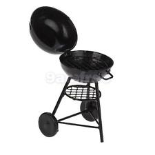 Dollhouse Miniature Outdoor Picnic Charcoal Barbeque BBQ Grill oven Black Metal