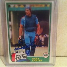 1981 Topps Gary Carter Auto Signed Card