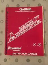 Mario Andretti Pinball Game Instruction Manual, Premier/Gottlieb 1995