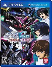 PS Vita Mobile Suit Gundam Seed Battle Destiny Japan import Japanese Game