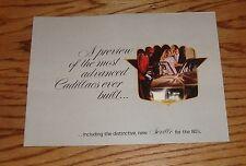 Original 1980 Cadillac Full Line Preview Sales Brochure 80 Eldorado Fleetwood