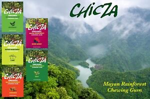 Chicza Organic Chewing Gum - Full Box (10 Packs)