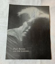 1964 Paul Revere & The Raiders Promo Booklet Signed By All Members