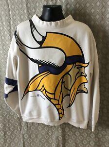 Vintage 1994 Minnesota Vikings moc turtle Crewneck Sweatshirt XL LOGO 2side LOGO