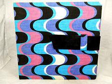"""70´s """" psychodelic """" design 12 inch LP record case Schallplatten Mappe + Index"""