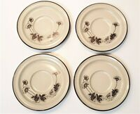Set of 4 Noritake DESERT FLOWERS Saucer Plates 8341 Great condition