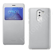 Genuine Huawei smart window view side flip stand case cover pour Honor 6X silver