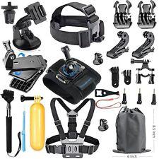 18 en 1 Kit De Accesorios Gopro Hero 5 Black Hero 3+ 3 2 1 Cámara Deporte Cinturón de pecho