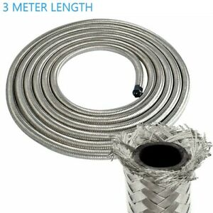 Stainless Steel Braided Nitrile Rubber Fuel Hose Line Diesel Petrol Hose AN6 8MM