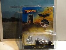 Hot Wheels Batman Begins 2005 Comic Con Chrome Batmobile & Batman Figure 1/3000