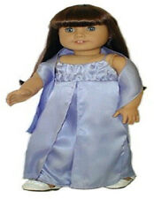Periwinkle Gown with Seed Pearls and Wrap  Fits 18 inch American Girl Dolls