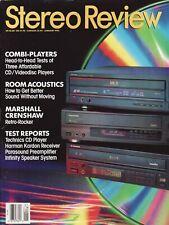 Stereo Review Mag Jan 1992Denon LA-2000, Panasonic LX-101, Pioneer Elite CLD-31
