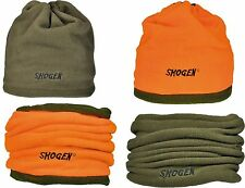 Chaud tournant Neckwarmer Foulard Bonnet Outdoor écharpe Olive-Orange Fluo