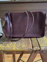 Vintage Coach Leather Side Bag Burgundy Oxblood Deep Red