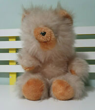 SUNNY TOYS TEDDY BEAR PINKISH GREY FUR ORANGE NOSE AND TONGUE OUT 30CM