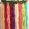 Bouquet Artifical Bracketplant Hanging Ivy Vine Silk Flower Home Garden Decor
