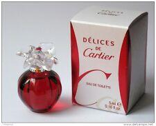 DELICES DE CARTIER 0.16 oz / 5 ml EDT Splash Miniature Women NEW IN BOX