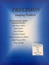 Lot of 25 Copier Transparency Film Sheets-No Stripe - Precision- New 10-101