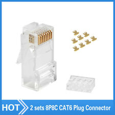 50pcs CAT6 RJ45 Network Modular Plug Set 8P8C Connector Crystal Head 50U UTP