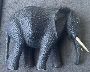 Elephant Statue Vintage Wooden Sculpture Figurine